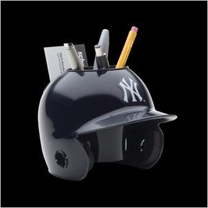 Schutt MLB New York Yankees Authentic Mini Batting Helmet Desk Caddy