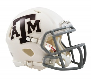 Texas A&M Aggies White Revolution Speed Mini Helmet