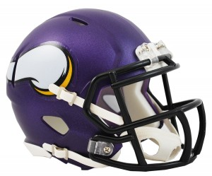 Riddell NFL Minnesota Vikings Satin Purple Revolution Speed Mini Helmet