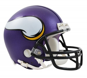 Riddell NFL Minnesota Vikings Satin Purple VSR4 Replica Mini Helmet