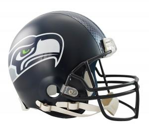 Riddell NFL Seattle Seahawks Matte Navy VSR4 Authentic Full Size Helmet