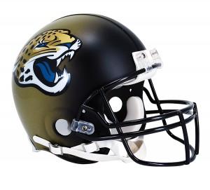 Riddell NFL Jacksonville Jaguars 2013-2017 Throwback Authentic Vsr4 Full Size Football Helmet