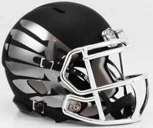 Oregon Ducks LiquidMetal Titanium Eclipse Black HydroSkin Revolution Speed Mini Helmet NEW 2013