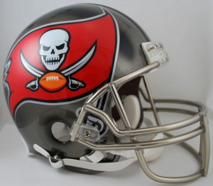 Tampa Bay Buccaneers 2014-2019 Throwback Riddell Full Size Authentic Vsr4 Helmet