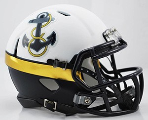 Navy Midshipmen 2012 Special Throwback Revolution Speed Mini Helmet NEW 2014