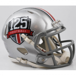 Riddell NCAA Ohio St Buckeyes 125th Anniversary Speed Mini Football Helmet