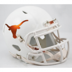 Riddell NCAA Texas Longhorns Chrome Decal Revolution Speed Mini Helmet