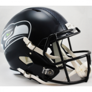 Riddell NFL Seattle Seahawks Matte Navy Revolution Speed Replica Full Size Helmet