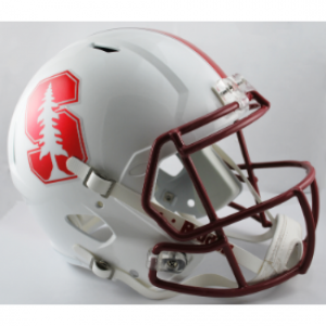 Riddell NCAA Stanford Cardinal Chrome Decal Revolution Speed Replica Full Size Helmet