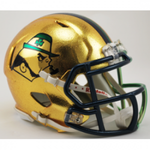 Riddell NCAA Notre Dame Fighting Irish 2015 Throwback Boston Shamrock HydroSkin Speed Mini Football Helmet