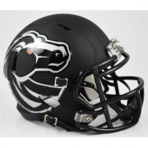 Riddell NCAA Boise St Broncos Matte Black Speed Mini Football Helmet