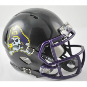 Riddell NCAA East Carolina Pirates Black Speed Mini Football Helmet