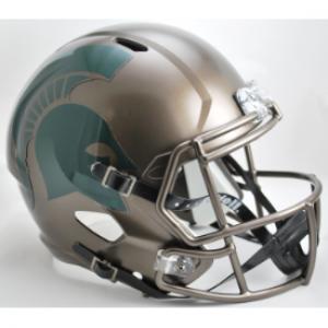 Riddell NCAA Michigan St Spartans Bronze Revolution Speed Replica Full Size Helmet
