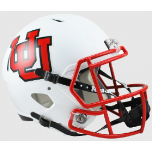 Riddell NCAA Utah Utes Interlocking U Revolution Speed Replica Full Size Helmet