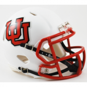 Riddell NCAA Utah Utes Interlocking U Speed Mini Football Helmet
