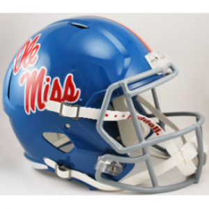 Riddell NCAA Mississippi (Ole Miss) Rebels Powder Blue Revolution Speed Replica Full Size Helmet