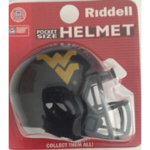 Riddell NCAA West Virginia Mountaineers Speed Pocket Size Football Helmet