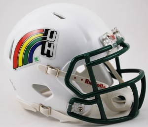 Hawaii Warriors Retro Revolution Speed Mini Helmet