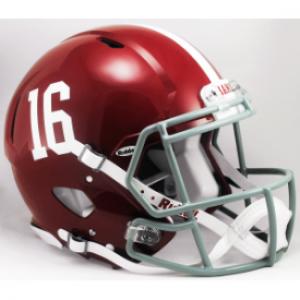 Riddell NCAA Alabama Crimson Tide #16 Revolution Speed Authentic Full Size Helmet