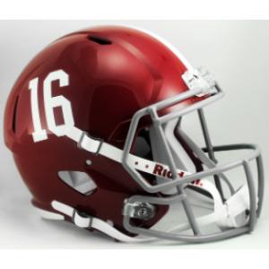 Riddell NCAA Alabama Crimson Tide #16 Revolution Speed Replica Full Size Helmet