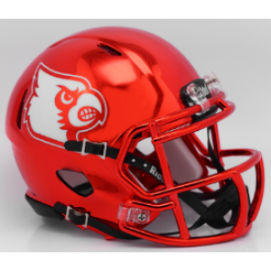 Riddell NCAA Louisville Cardinals Red Chrome Revolution Speed Mini Helmet