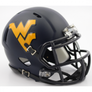 Riddell NCAA West Virginia Mountaineers 2016 Satin Navy Speed Mini Football Helmet