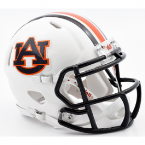 Riddell NCAA Auburn Tigers Chrome Decal Speed Mini Football Helmet