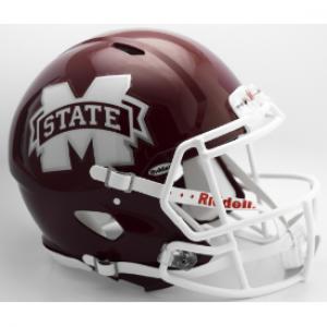 Riddell NCAA Mississippi St Bulldogs 2016 M State Revolution Speed Authentic Full Size Helmet