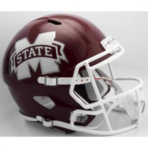Riddell NCAA Mississippi St Bulldogs 2016 M State Revolution Speed Replica Full Size Helmet
