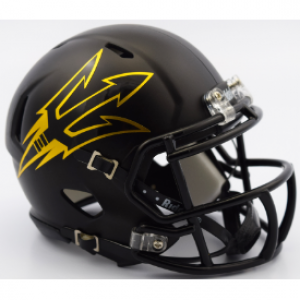 Riddell NCAA Arizona St Sun Devils Satin Black Authentic Speed Full Size Football Helmet
