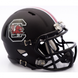 Riddell NCAA South Carolina Gamecocks Matte Black Speed Mini Football Helmet