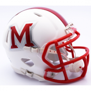 Riddell NCAA Miami (Ohio) Redhawks Matte White Revolution Speed Mini Helmet