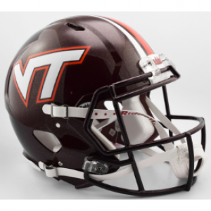 Riddell NCAA Virginia Tech Hokies Center Stripes Authentic Speed Full Size Football Helmet