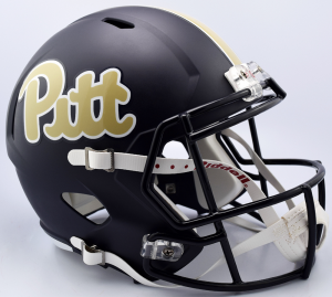 Riddell NCAA Pittsburgh Panthers Matte Navy Script Replica Speed Full Size Football Helmet
