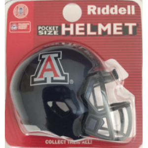 Riddell NCAA Arizona Wildcats Blue Speed Pocket Size Football Helmet