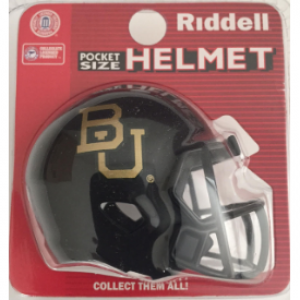 Riddell NCAA Baylor Bears Black Speed Pocket Size Football Helmet