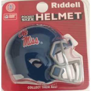 Riddell NCAA Mississippi (Ole Miss) Rebels Powder Blue Speed Pocket Size Football Helmet