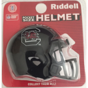 Riddell NCAA South Carolina Gamecocks Black Speed Pocket Size Football Helmet