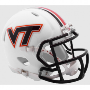 Riddell NCAA Virginia Tech Hokies Matte White Speed Mini Football Helmet