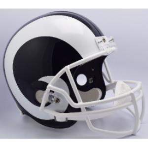 Los Angeles Rams 2017-2019 Throwback White Horn Riddell Replica Full Size Vsr4 Helmet