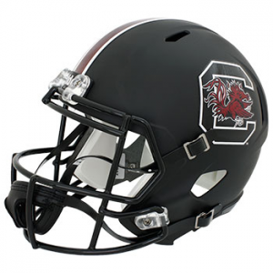 Riddell NCAA South Carolina Gamecocks Matte Black Replica Speed Full Size Football Helmet