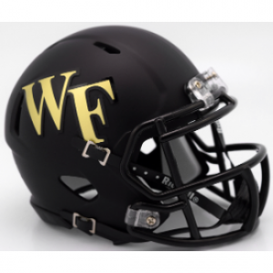Riddell NCAA Wake Forest Demon Deacons Matte Black Speed Mini Football Helmet
