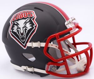 Riddell NCAA New Mexico Lobos 2017 Matte Gray Speed Mini Football Helmet