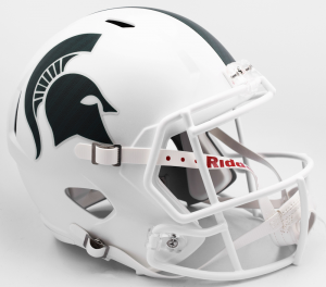 Riddell NCAA Michigan St Spartans 2017 Matte White Alt Replica Speed Full Size Football Helmet