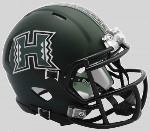 Riddell NCAA Hawaii Warriors Matte Green Speed Mini Football Helmet