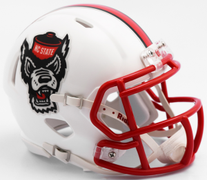 Riddell NCAA North Carolina St Wolfpack 2017 Tuffy Speed Mini Football Helmet