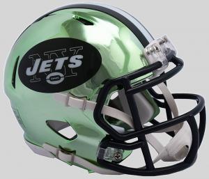 Riddell NFL New York Jets 2018 Chrome Speed Mini Football Helmet