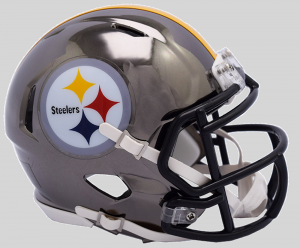 Riddell NFL Pittsburgh Steelers 2018 Chrome Speed Mini Football Helmet