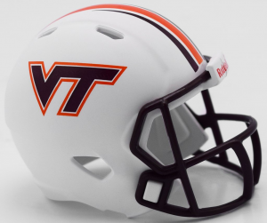 Riddell NCAA Virginia Tech Hokies 2018 White Speed Pocket Size Football Helmet