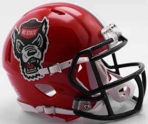 Riddell NCAA North Carolina St Wolfpack 2018 Red Tuffy Replica Speed Full Size Football Helmet